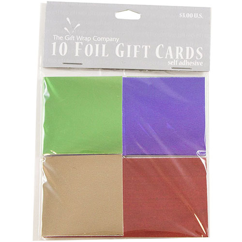 Stick-On Foldover Gift Tags