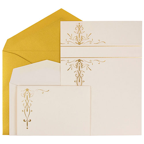 Floral Luster Wedding Invitation Sets