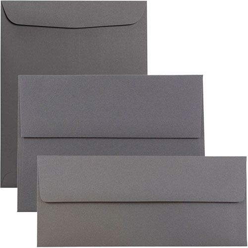 Grey Envelopes & Paper