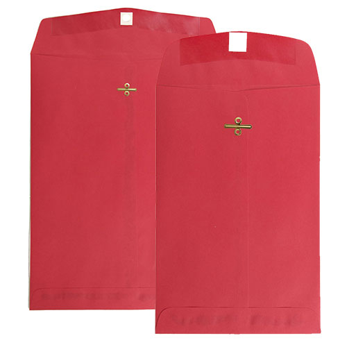Red Clasp & Open End Envelopes