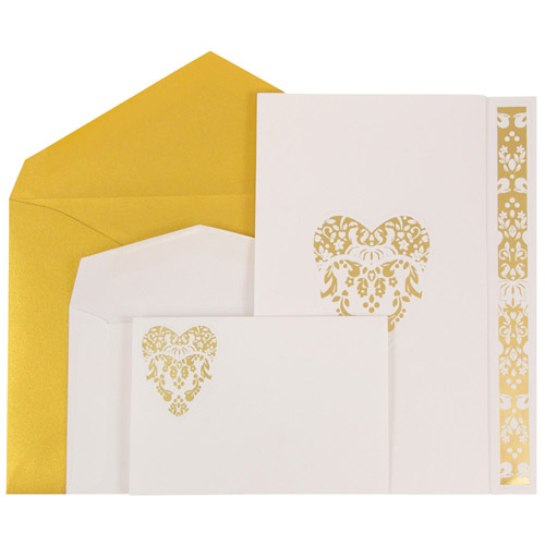 Floral Heart Wedding Invitation Sets