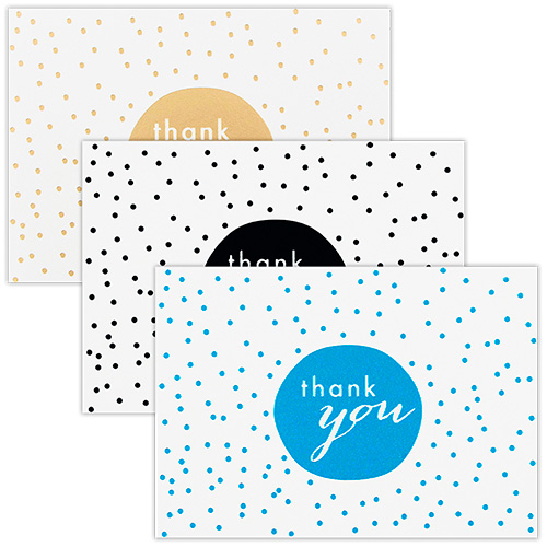 Polka Dot Thank You Card Sets