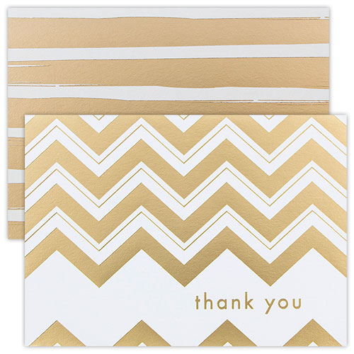 Foil Stripe Thank You Card Sets