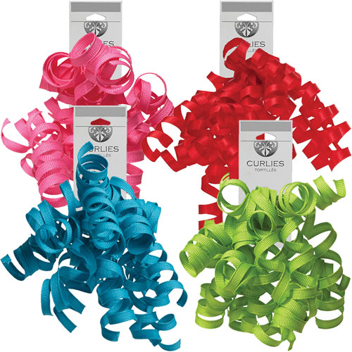 Curly Gift Bows - Sold per Case