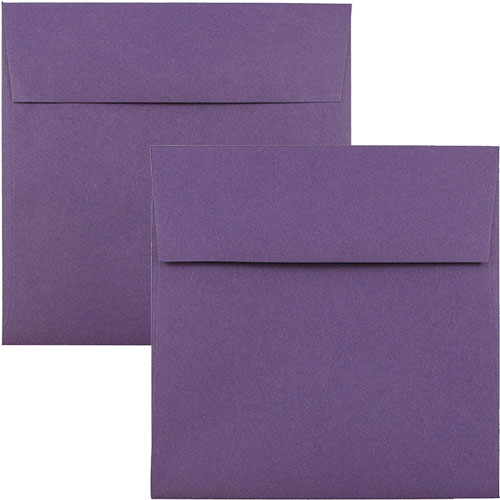 Purple Square Envelopes