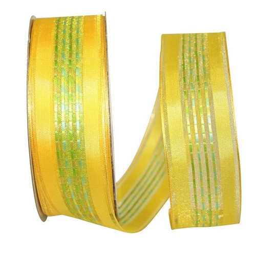 Yellow Sheer Stripe Ribbon