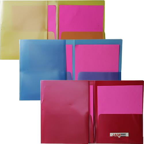 Colored Folders with Pearl Shine