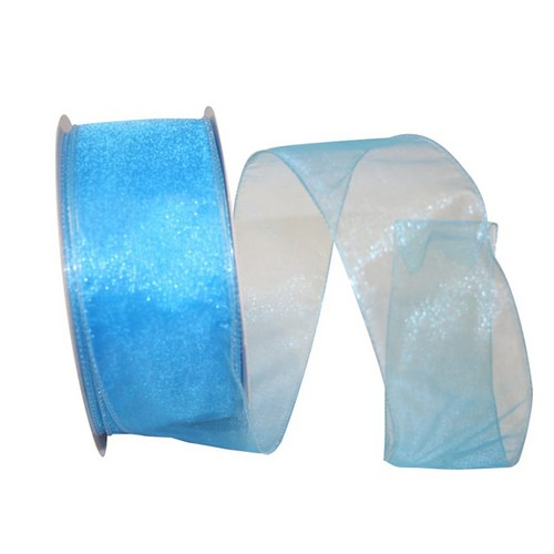 Blue Sheer Wired Ribbon