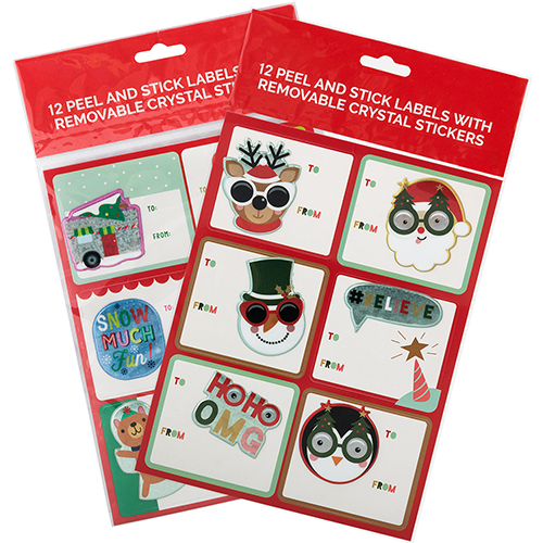 3D To From Christmas Stickers