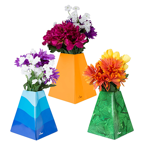 Paper Pop-Up Flower Vases