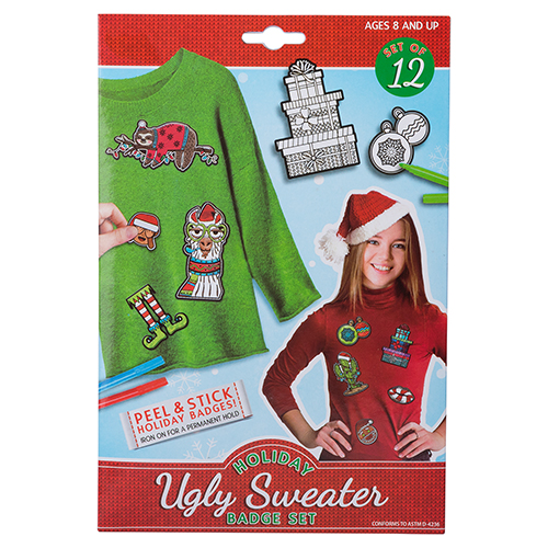 Holiday Ugly Sweater Badge Sets