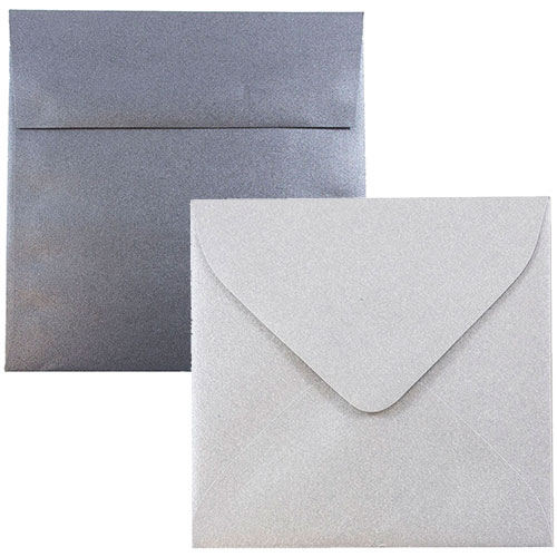 Silver & Grey Square Envelopes
