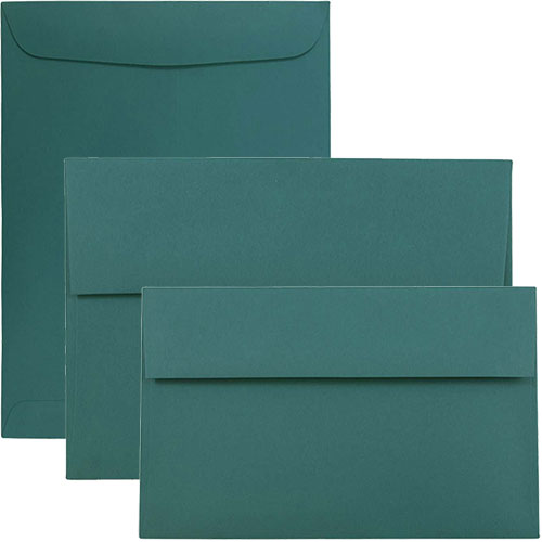 Teal Envelopes & Paper