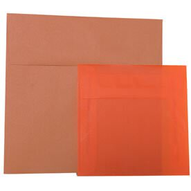 Orange Square Envelopes