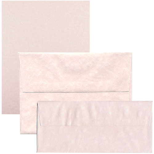 Pink Recycled Parchment Envelopes & Paper