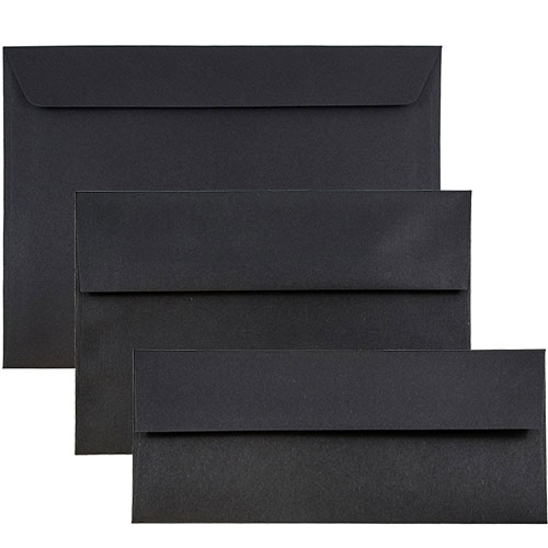 BLACK LINEN Envelopes & Paper