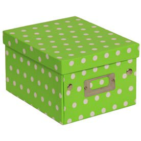 6 3/4x 8 5/8x 5 1/8 Lime Green with Small Dot Box