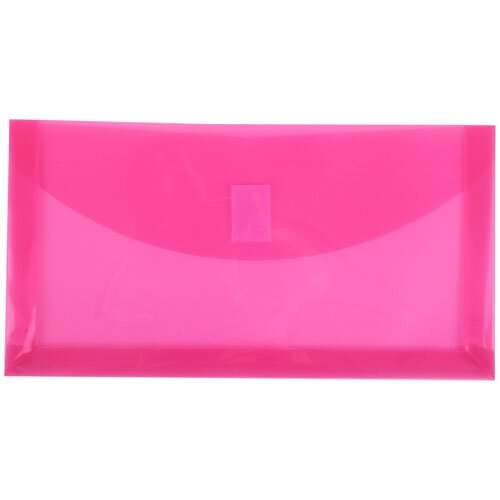 Pink #10 Busines Plastic Envelopes - 5 1/4 x 10