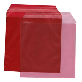 Red 6 1/16 x 6 3/16 Square Envelopes