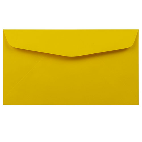 Yellow #6 3/4 Envelopes - 3 5/8 x 6 1/2