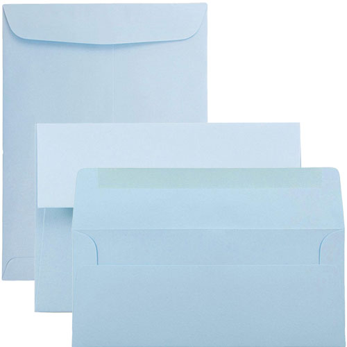 Baby Blue Envelopes & Paper