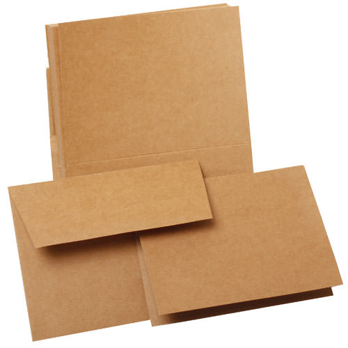 Brown paper stationery