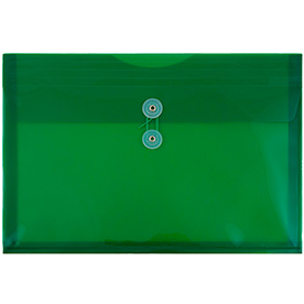 Green Legal Plastic Envelopes - 9.75x14.5