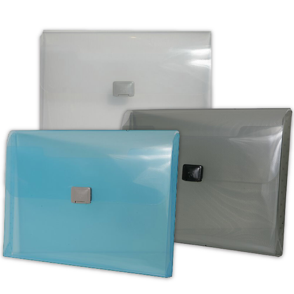 Plastic Portfolio with Center Buckle