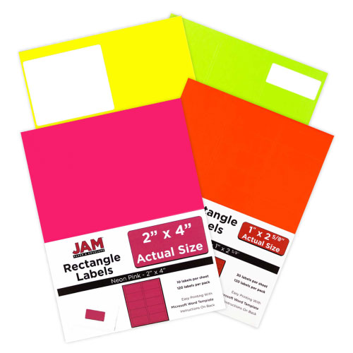 Neon Address Labels