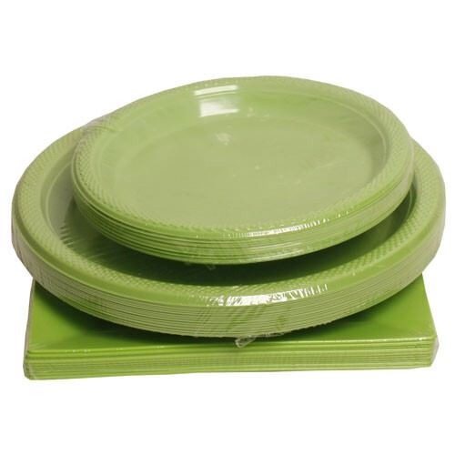 Green Plastic Plates  sc 1 st  JAM Paper : real looking plastic plates - pezcame.com