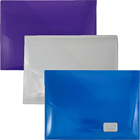 Plastic Portfolio with Side Buckle