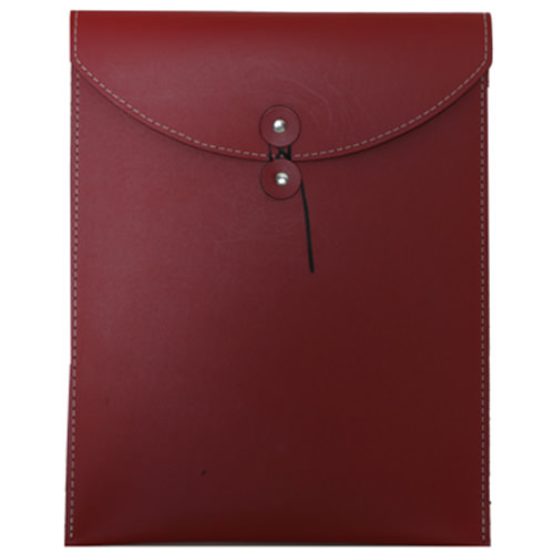 Red Leather Button & String Closure Envelopes