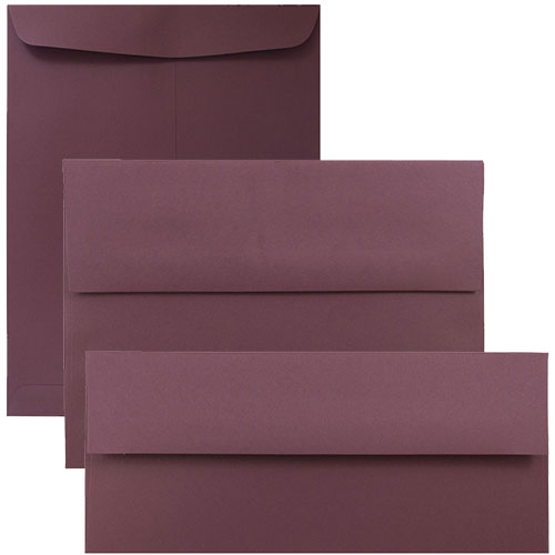 Burgundy Envelopes & Paper