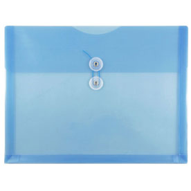 Blue Letter Booklet Plastic Envelopes - 9.75 x 13