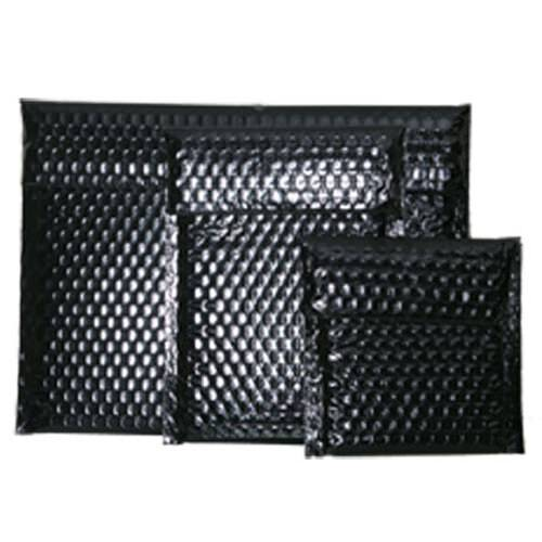 Black Bubble Mailers with Velcro® Brand Closure