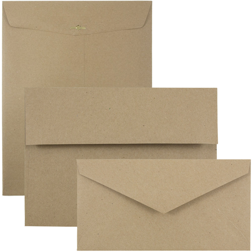 Brown Kraft Paper Bag Envelopes and Paper