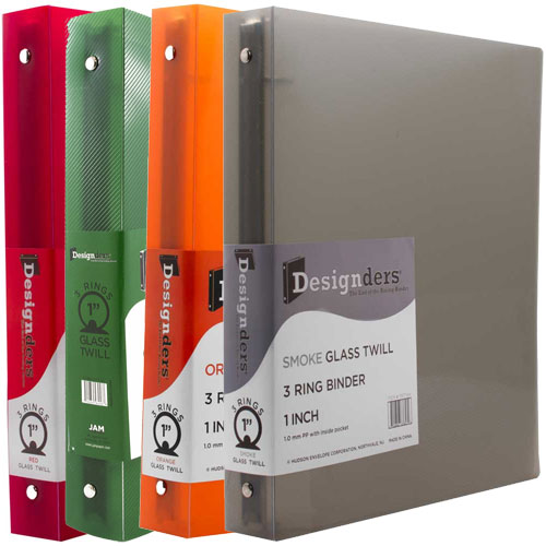 Clear Grid 1 Inch Binders