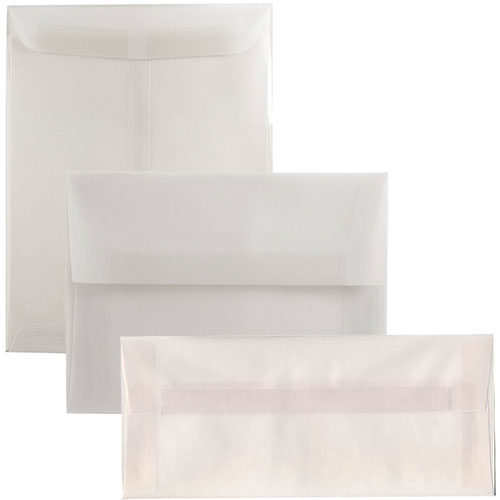 Clear Translucent Vellum Envelopes & Paper