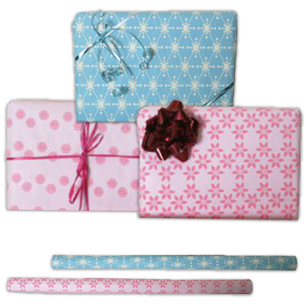 Handmade Wrapping Paper Rolls