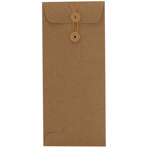 Brown Kraft Paper Button & String Envelopes