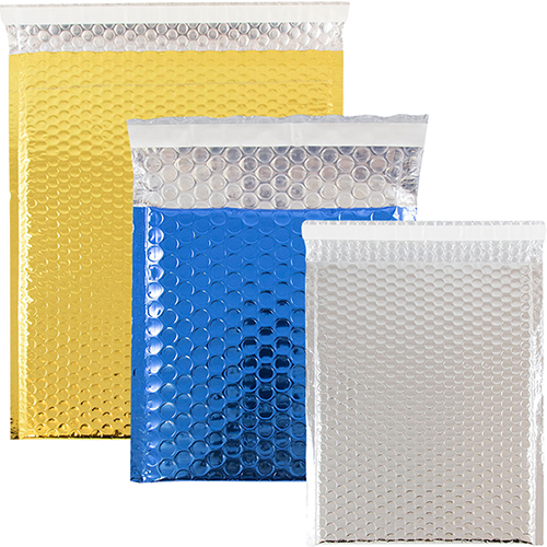 Metallic Bubble Mailers - Peel & Seal Closure