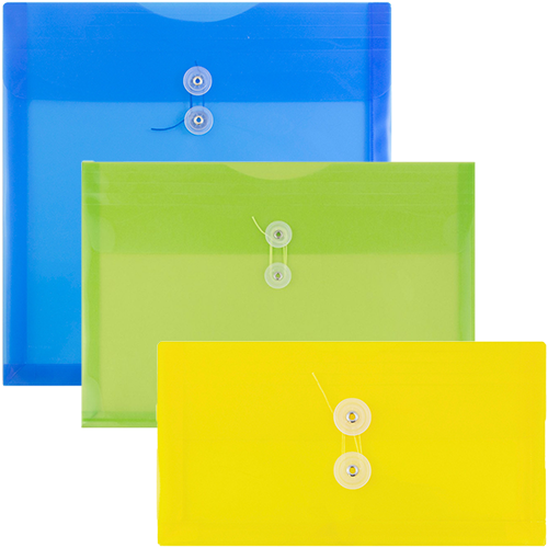 Original Plastic Button & String Envelopes