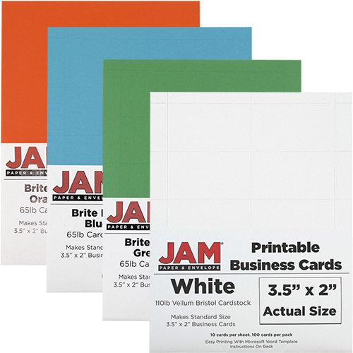 Printable business cards 3 12 x 2 jam paper printable business cards accmission Gallery