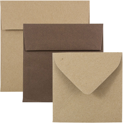 Chocolate Brown & Brown Kraft Paper Bag Squares