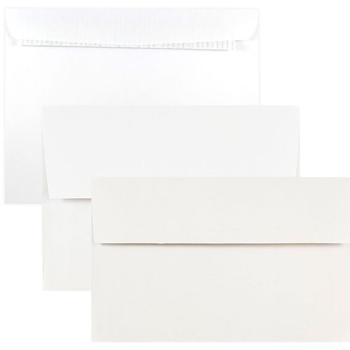 White Booklet Envelopes