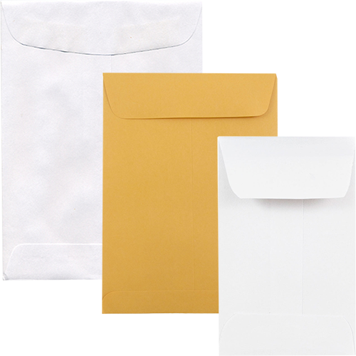 White & Manilla Coin, Policy, & Open End Envelope
