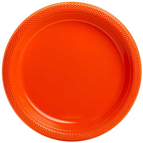Orange Plastic Plates