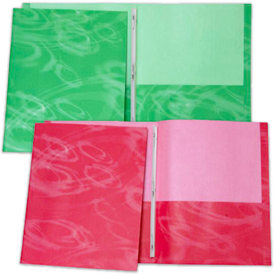 Duotang Paper Folders with Clips for 3 Hole Punch