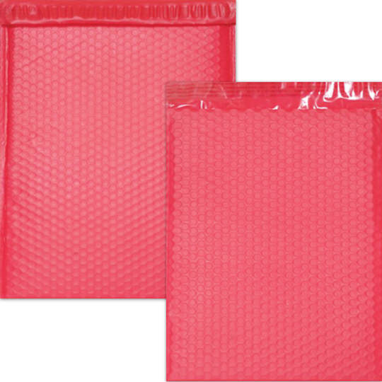Red Matte Bubble Mailers - Self Adhesive Closure