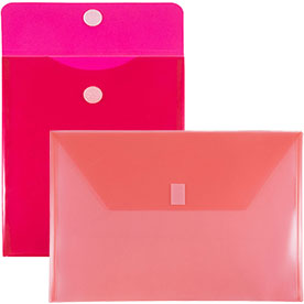 Red Plastic VELCRO® Brand Closure Envelopes
